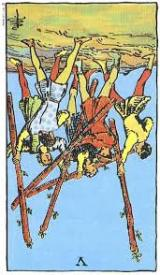 The Daily Draw: Five of Wands,Reversed