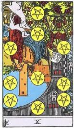 Ten of Pentacles, Reversed
