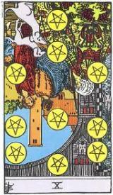 The Daily Draw: Ten of Pentacles,Reversed