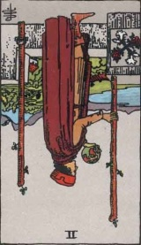 The Daily Draw: Two of Wands, reversed
