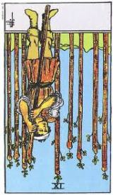 The Daily Draw: Nine of Wands, Reversed
