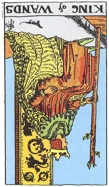 King of Wands, Reversed