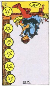 Eight of Pentacles, Reversed