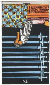 The Daily Draw: Nine of Swords,Reversed