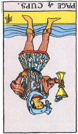 The Daily Draw: Page of Cups Reversed