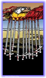 The Daily Draw: Ten of Swords Reversed