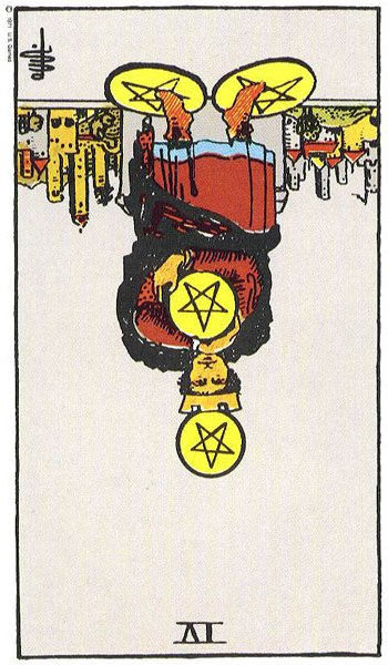 Four of Pentacles, Reversed