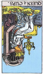 Queen of Cups, Reversed